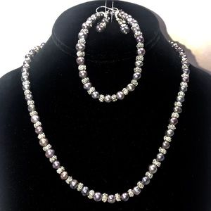 Jewelry - Genuine 6-7mm Black Fresh Water Pearl Necklace
